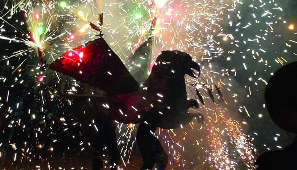El Griu durant la Festa Major de Santa Tecla 2018.