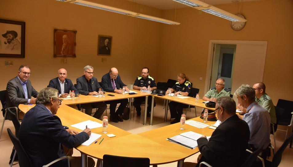 Imatge de la Junta Local de Seguretat celebrada a Torredembarra.