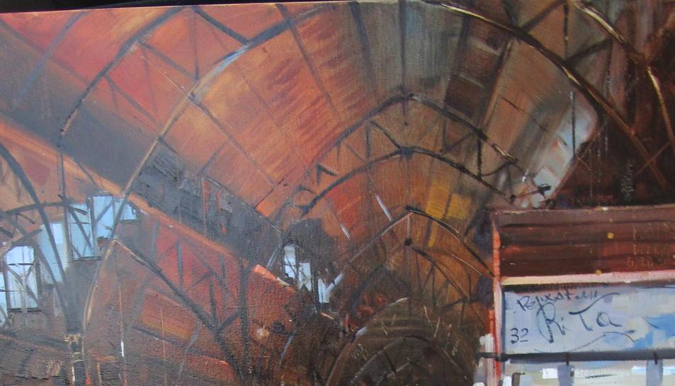 Obra que va rebre el segon premi, realitzada per Julio Garcia.