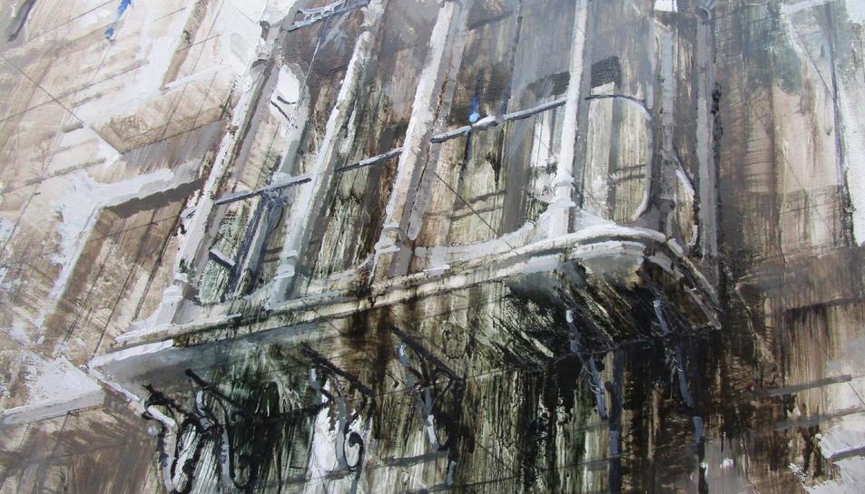 Obra guanyadora, realitzada per la pintora Aina Mauri.