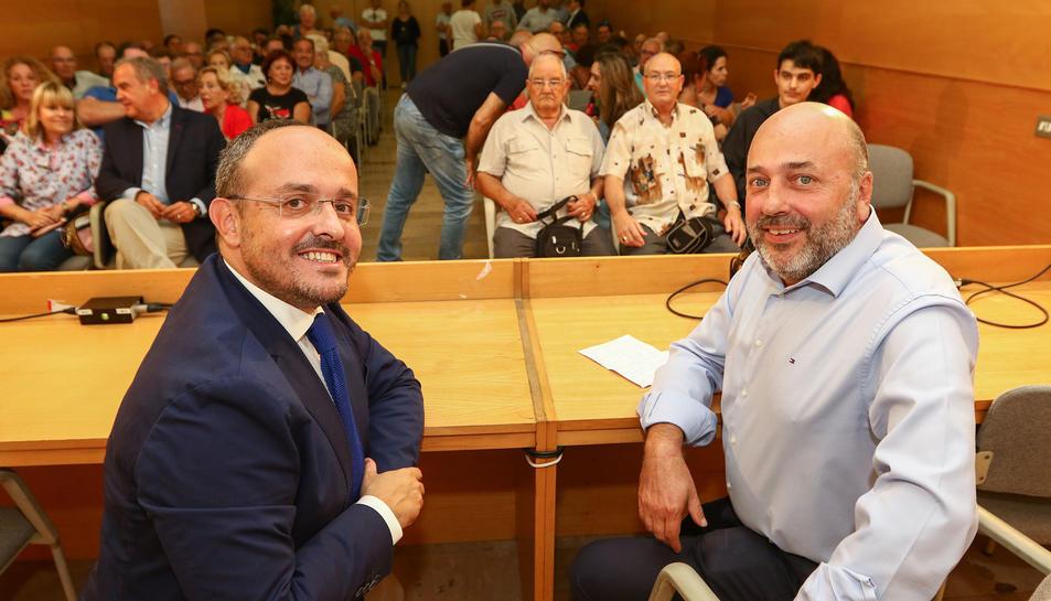 Alejandro Fernández i Sebastià Domènech avui.