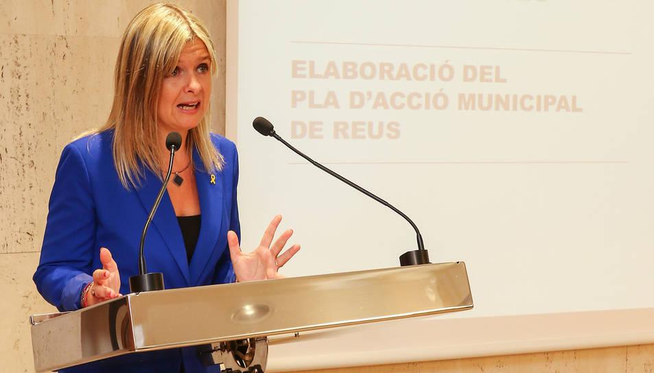 La vicealcaldessa Llauradó va presentar ahir el projecte.