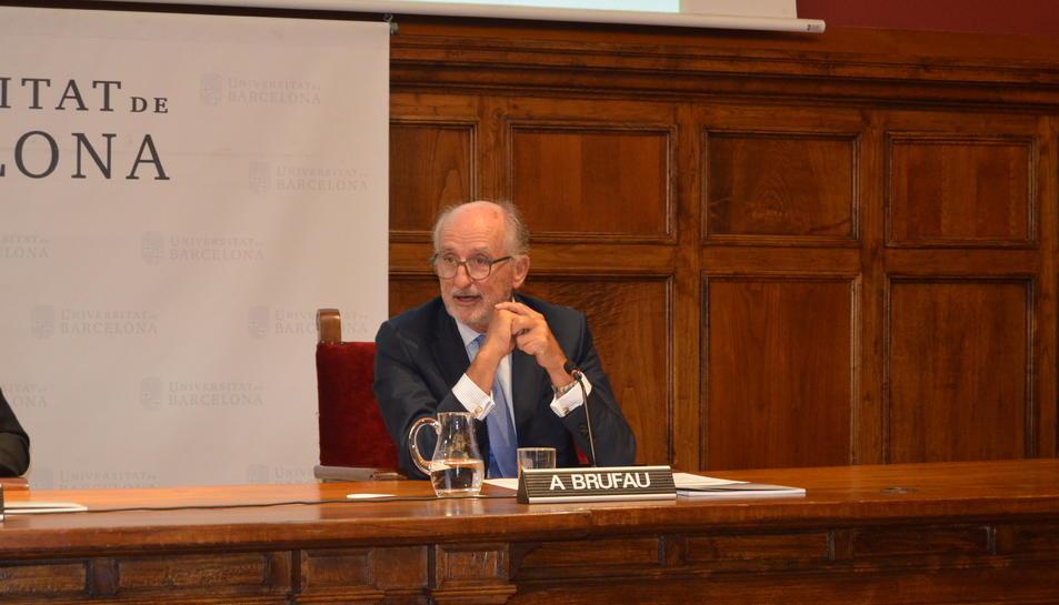 Antoni Brufau durant la seva intervenció.