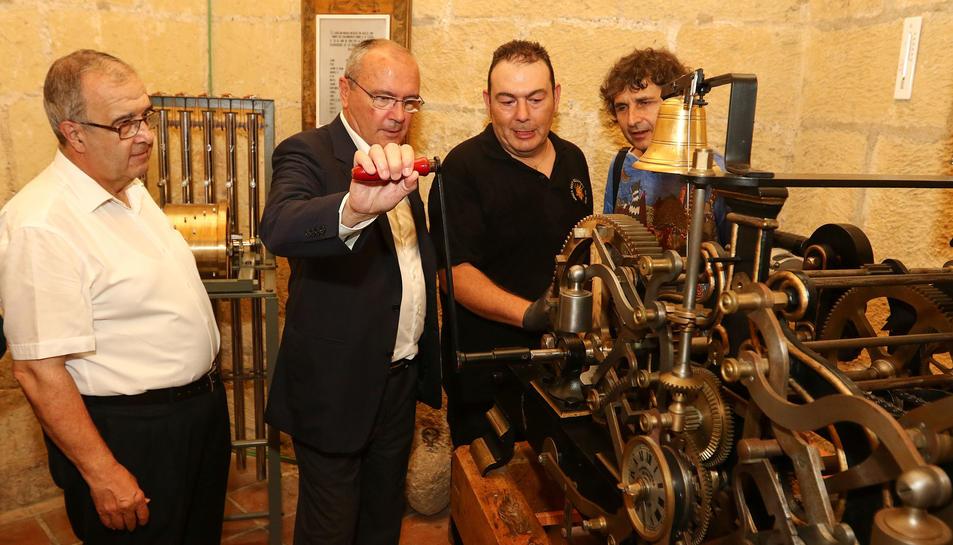 Ahir es va fer una demostració del funcionament de la maquinària a la sala on està ubicada.