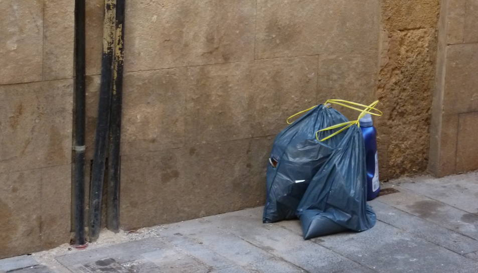 Aquestes són bosses abandonades recentment a la cantonada del carrer Riudecols amb carrer Abat.
