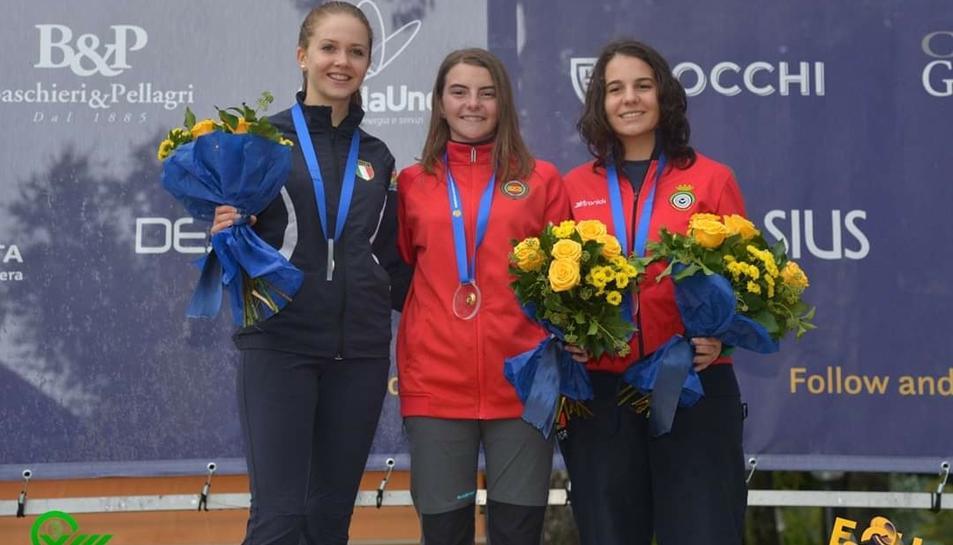 Mar Molné amb la medalla d'or.
