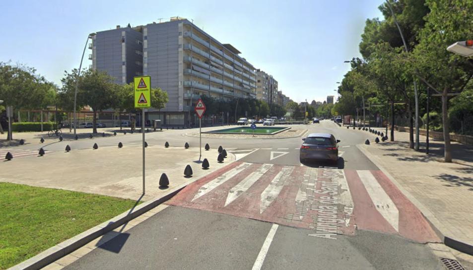 L'atropellament es va produir en un pas de vianants de l'Avinguda Sant Jordi.