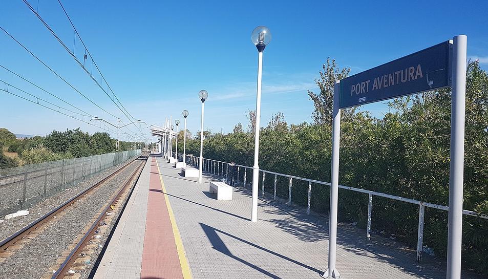 Imatge del baixador de Port Aventura.