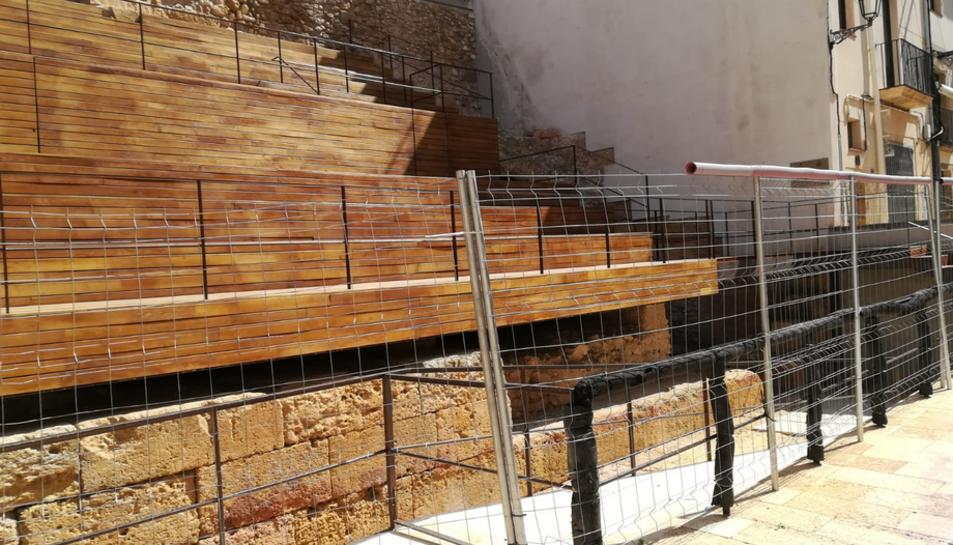 Aspecte de les grades del circ romà, en una imatge del passat abril.