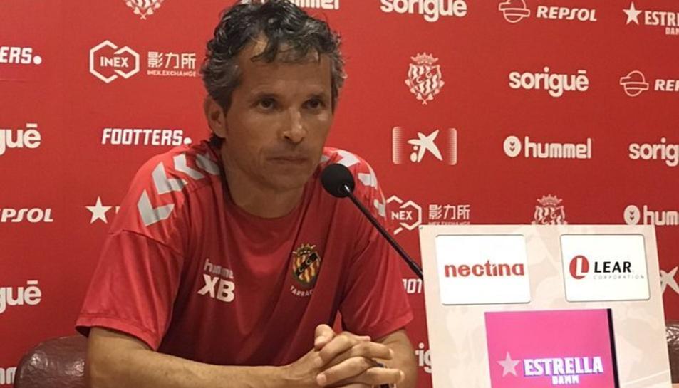Xavi Bartolo i l'equip han encarat la setmana amb optimisme després de la victòria contra el CD Ebro.