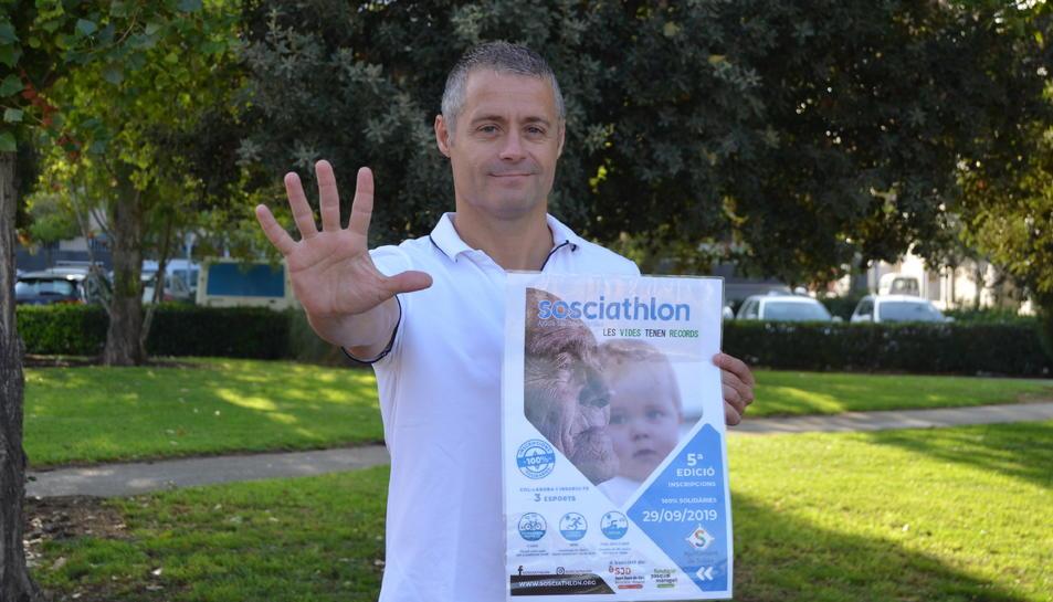 El president de Sosciathlon, que enguany arriba a la cinquena edició, a Vila-seca.