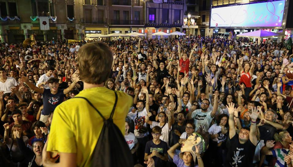 La plaça del Mercadal es va tornar a implir de la mà del Col·lectiu del Masclet.
