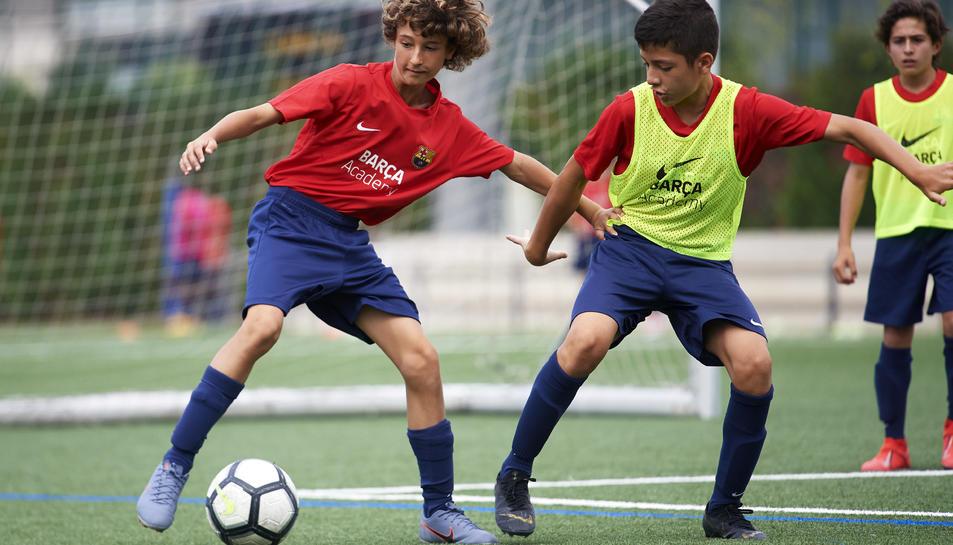 Els nens experimentaran com entrena el primer equip del Barça.