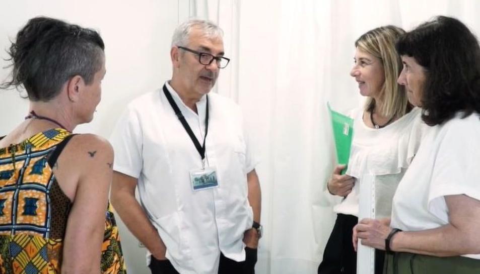 Diversos membres de l'equip investigador del projecte: Lluís Rosselló, Pilar Montesó i Marisa Panisello i Carme Campoy.