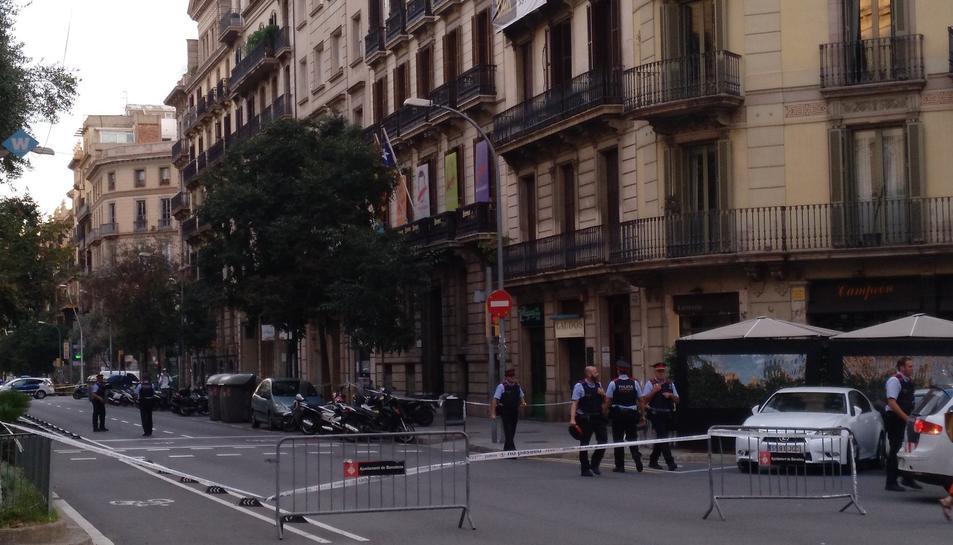 Imatge de la seu d'Òmnium a Barcelona.