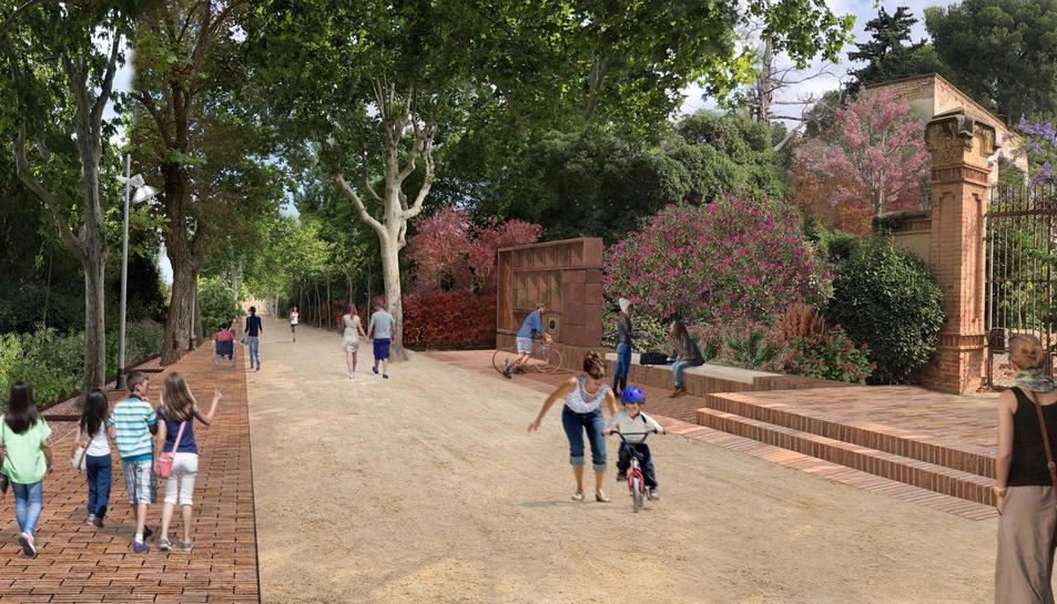 Imatge virtual del passeig de la Boca de la Mina, un cop finalitzin les obres. Foto del 26 de setembre del 2019 (Horitzontal).