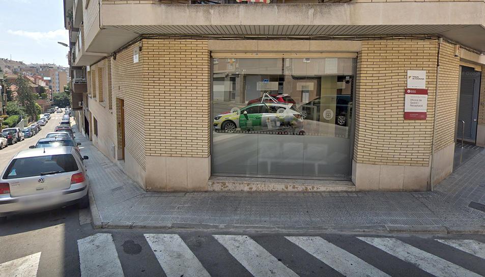 L'Oficina de Gestió Tributària de la Diputació a Manresa.