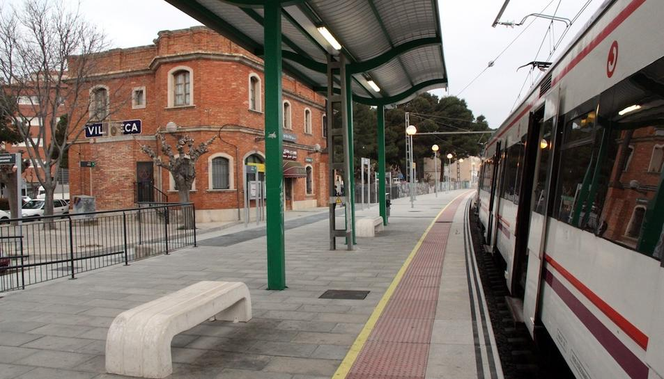 Imatge de l'estació de tren de Vila-seca.
