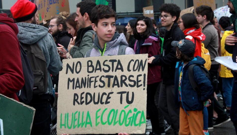 Imatge d'una manifestació del moviment Fridays for future del maig passat.
