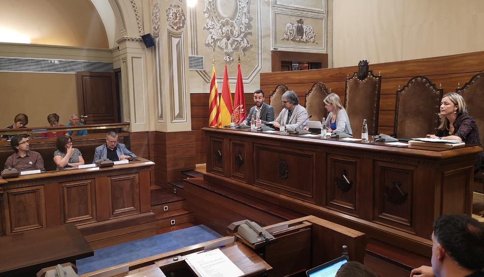 Imatge del plenari d ela Diputació celebrat aquest divendres.