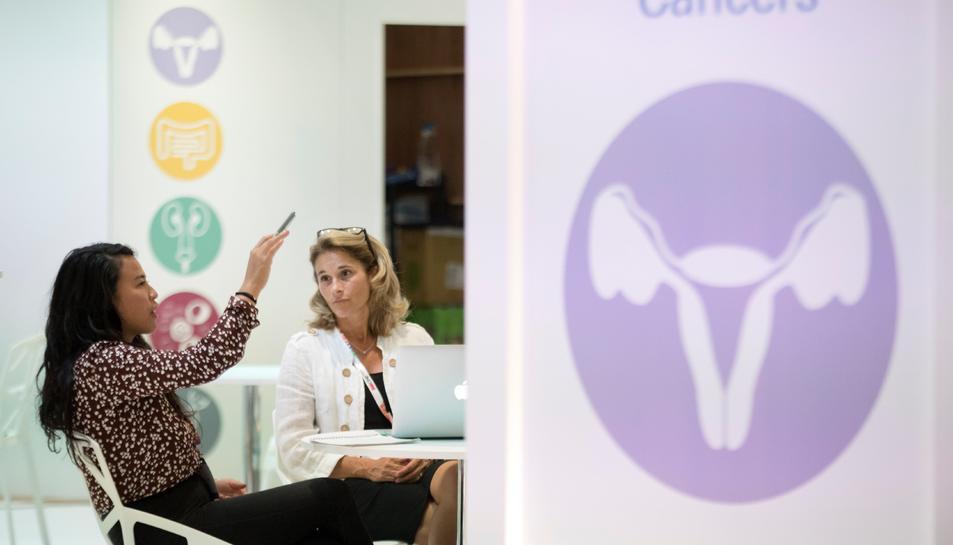 Imatge del Congrés Anual de la Societat Europea de Medicina Oncològica (ESMO).