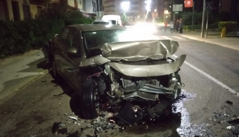 Imatge del vehicle accidentat.