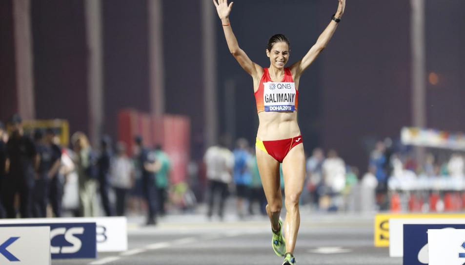 Marta Galimany creua la línia de meta