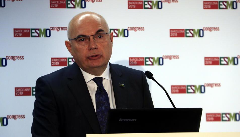 El president d'ESMO, cap del Servei d'Oncologia Mèdica de l'Hospital Vall d'Hebron i director del Vall d'Hebron Institut d'Oncologia (VHIO), el doctor Josep Tabernero.