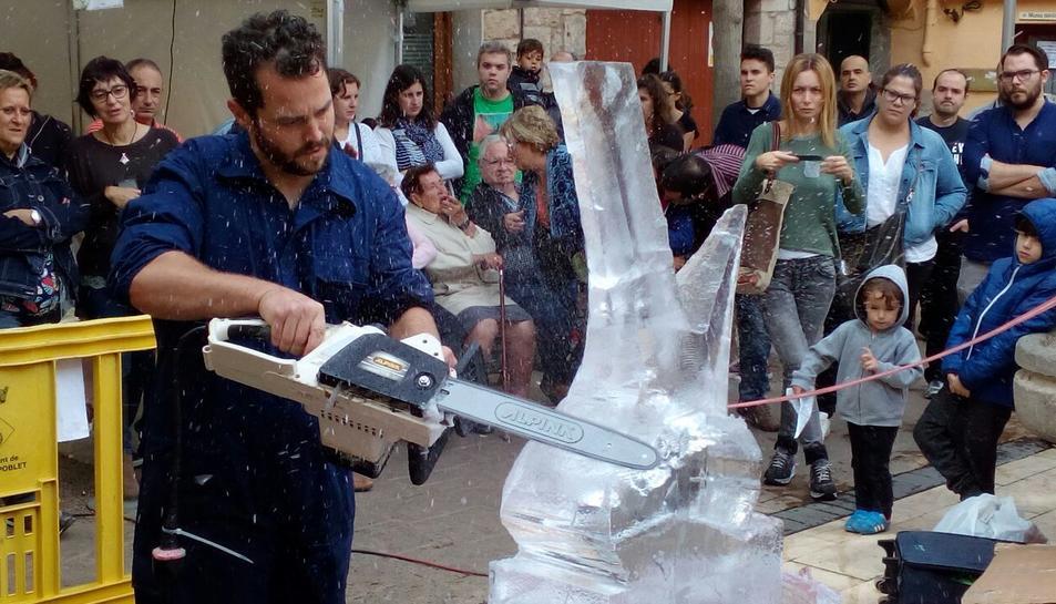 L'escultor de gel Ivan López tornarà a ser present al Vitrum.