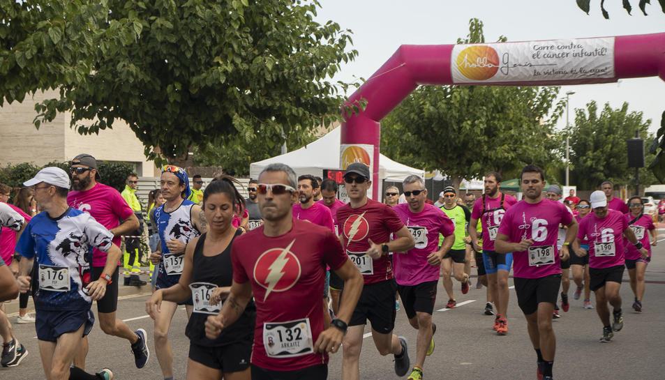 Alguns dels corredors durant la cursa.