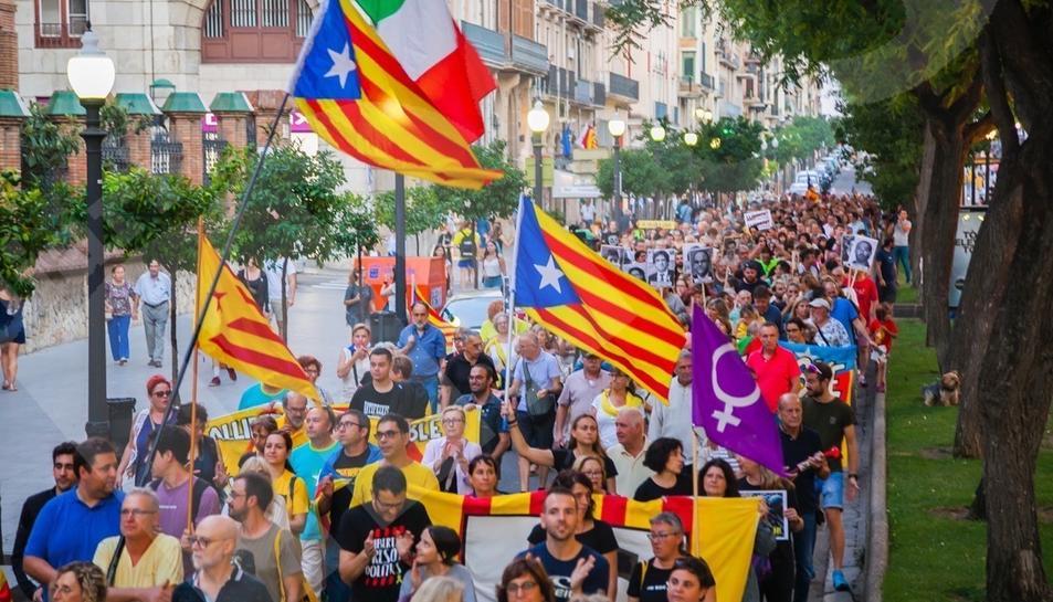 Manifestación 1-O en Tarragona