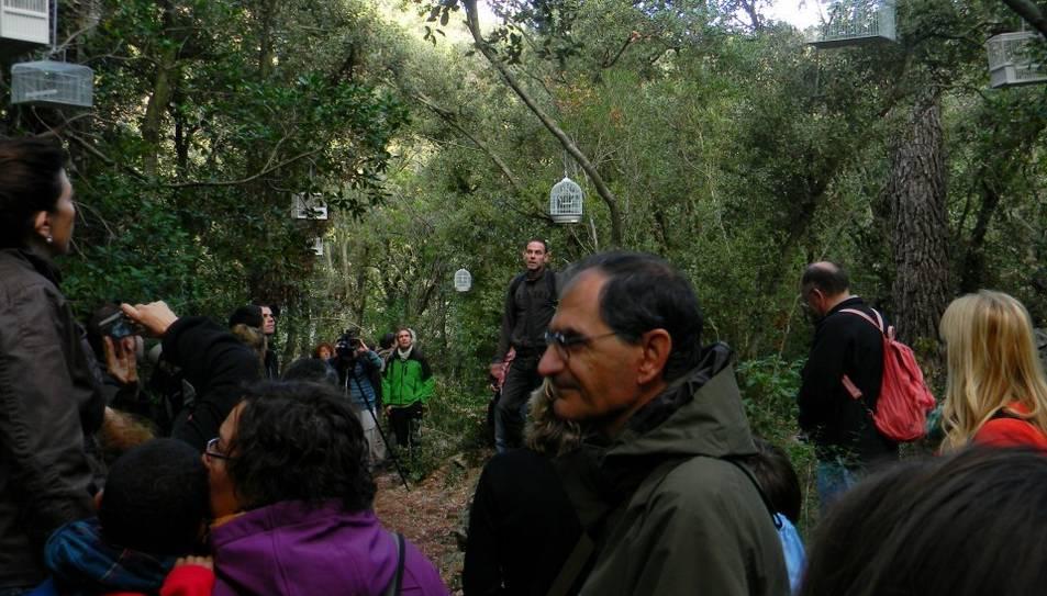 Participants en l'edició del 2012 del projecte 'Natura i Art'.