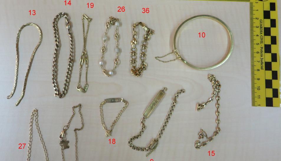 Imatge d'algunes de les joies exposades.