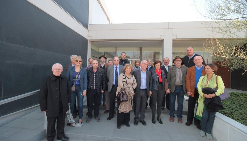 Visita de diversos membres del Senat al Campus Sescelades de la URV i a la seu de l'IPHES, el 15 de març del 2014.