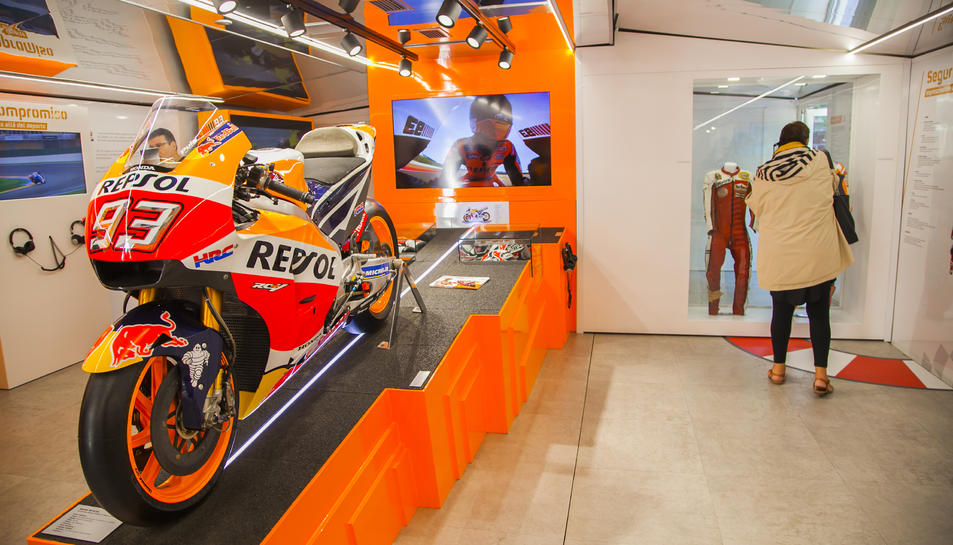 Honda RC213V, amb la que Marc Màrquez va guanyar el campionat de MotoGP de 2017, el quart dels cinc campionats del català.