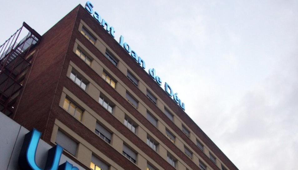 L'exterior de l'hospital Sant Joan de Déu de Barcelona.