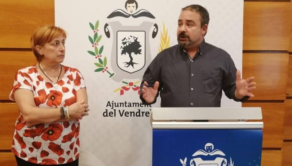 El regidor d'Hisenda, Baltasar Santos, i la