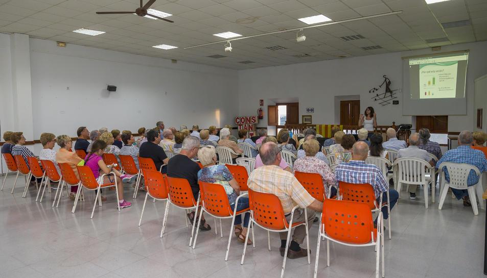 Imatge de la sessió inaugural del curs 2019-2020 de les Aules d'Extensió Universitària per a la Gent Gran a Constantí.