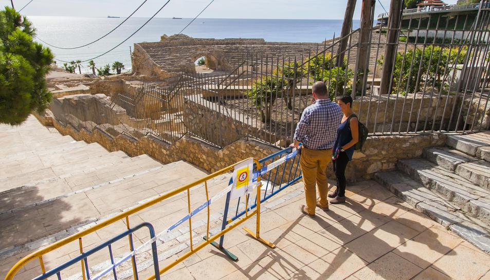 El portaveu del govern municipal, Xavier Puig, ha assegurat que les escales s'han tancat per prudència.
