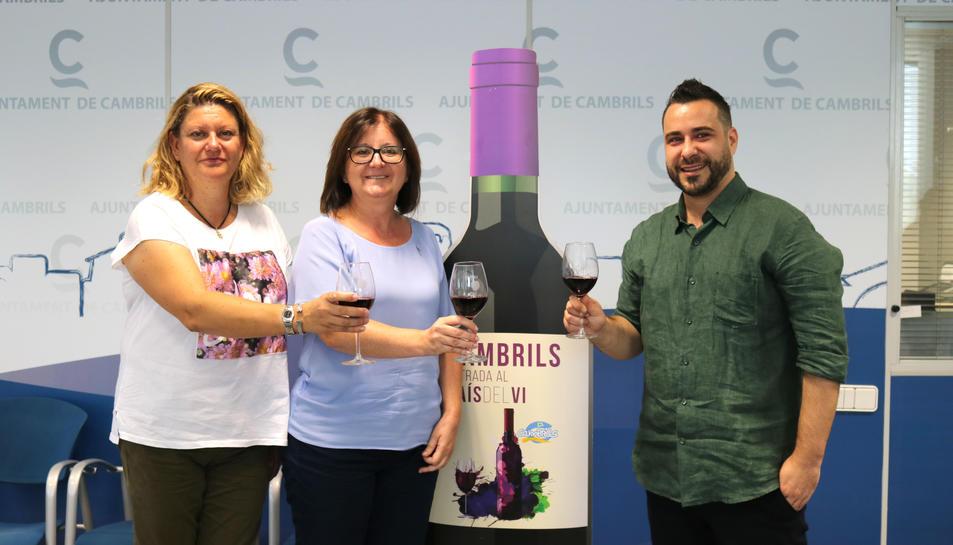 Presentació de la mostra del vi.