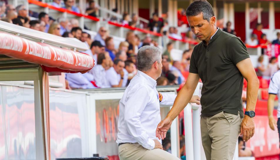 Xavi Bartolo, durant un moment de l'enfrontament.
