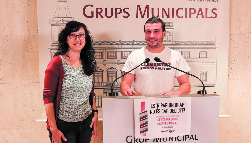 Els regidors de la CUP, Mònica Pàmies i Edgar Fernández, han valorat aquest dimarts la sentència del TSJC.