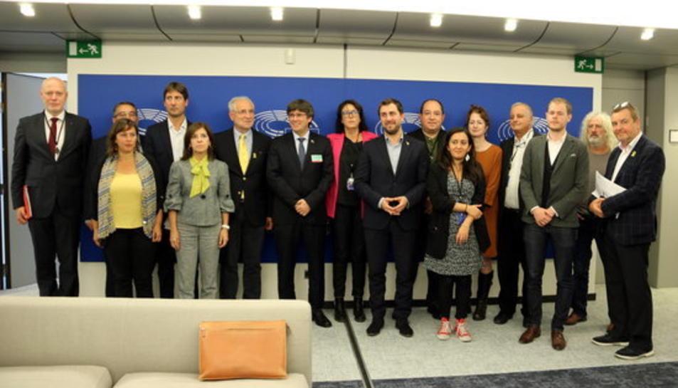 Els membres de la nova Plataforma de Diàleg UE-Catalunya a la IX legislatura de l'Eurocambra.