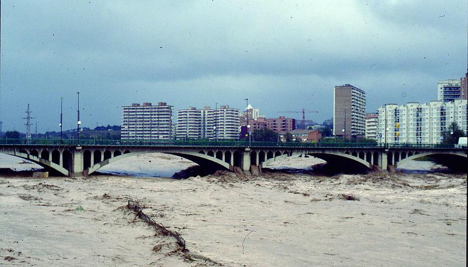 Imatge de la riuada del 10 d'octubre del 1994.