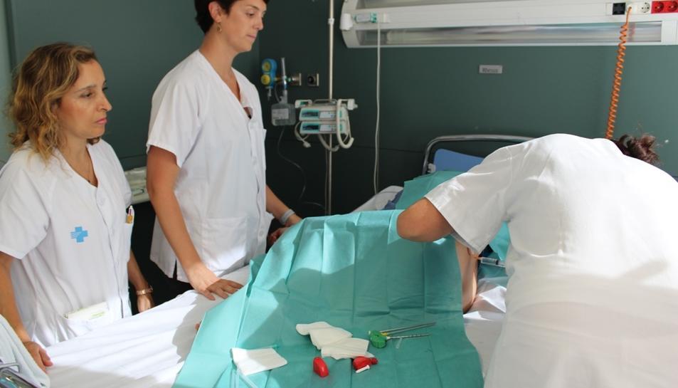 Imatge d'una intervenció d'una biòpsia de moll d'os.