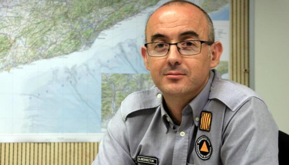 El subdirector general de Coordinació i Gestió d'Emergències, Sergio Delgado.