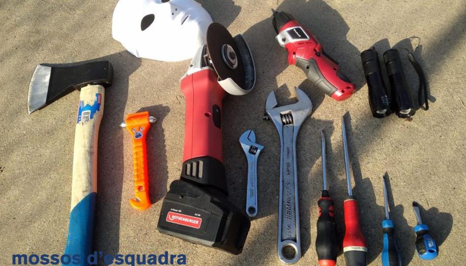 Les eines utilitzades pels lladres.