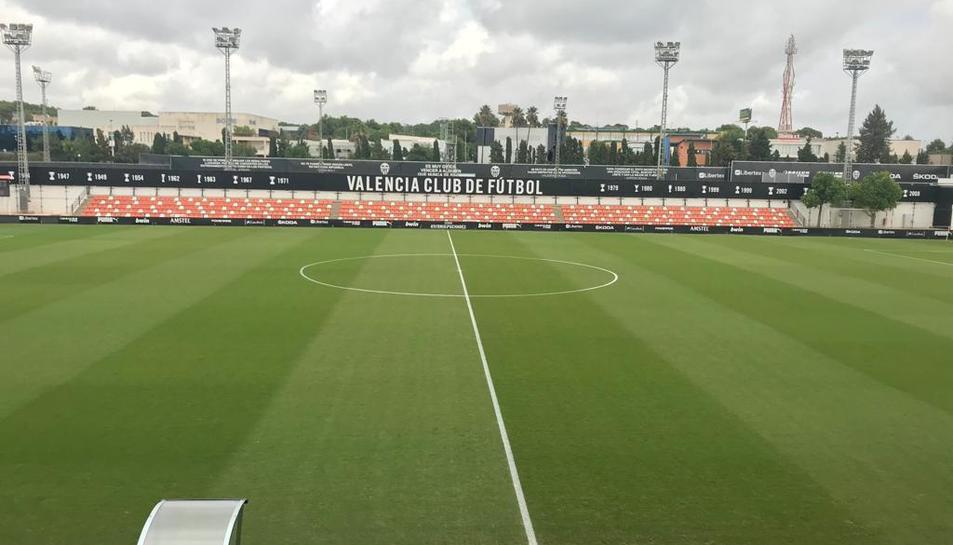 Imatge de la Ciutat Esportiva de Paterna abans del matx.