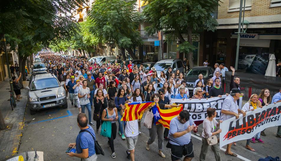 Manifestants a Tarragona