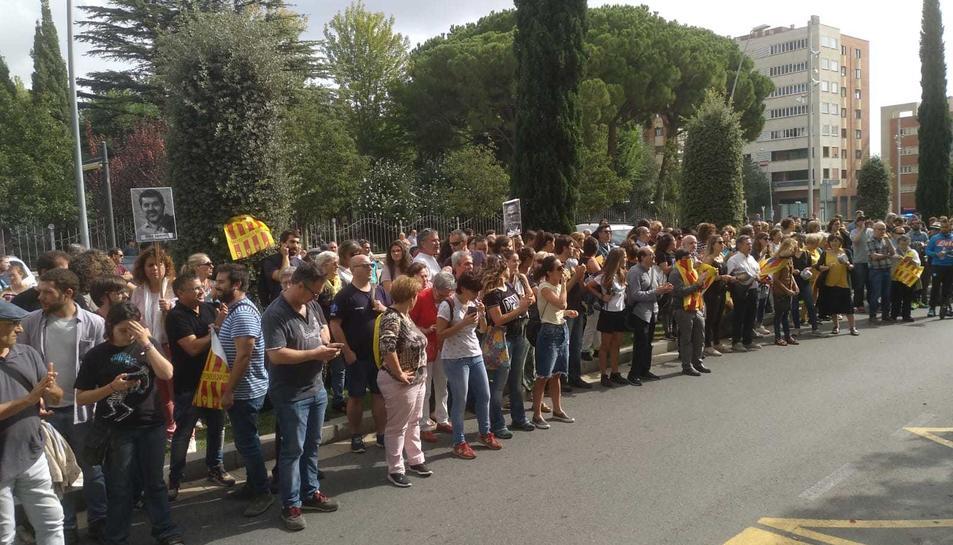 Manifestants, a la comissaria de Reus